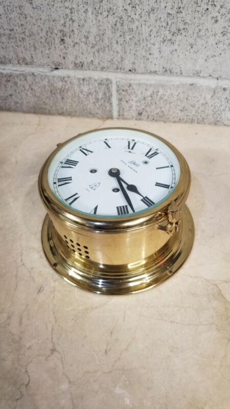 Vintage German Schatz Royal Mariner Brass Ships Clock 8 day Ships Bell Germany
