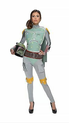 Star Wars Women Boba Fett Female Adult Costume New Size Small - Boba Fett Female