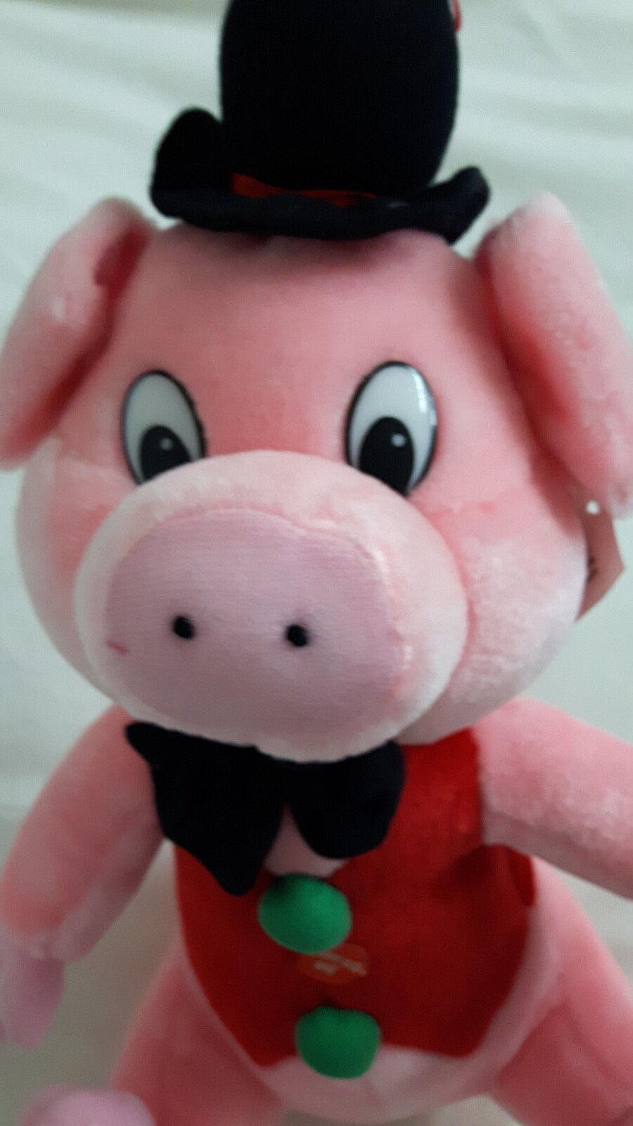 Glücksschwein in Kleidung mit Hut und Fliege 37cm NEU Kuscheltier Plüschtier