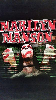 """Marilyn Manson blacklight/flocked poster: """"3 Faces"""""""