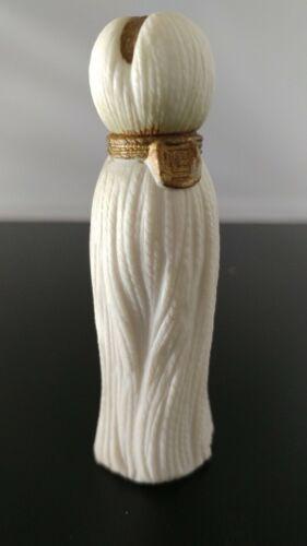 Vintage Perfume Bottle Mini Lucien Lelong White Tassel Indiscret Paris 1935 RARE
