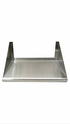 Stainless Steel Wall Mount Microwave Shelf 24 X 24 - Nsf