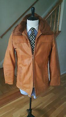 COOPER  Brown Genuine  Leather Jacket  Men size 40