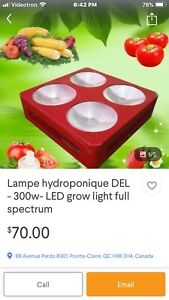 LED DEL hydropique lampe stay away. scammer