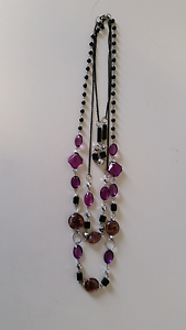 Purple beaded necklace Meadowbrook Logan Area Preview