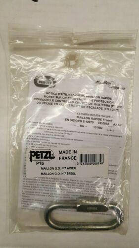 PETZEL P15 CARABINER 3 INCH SCREW LINK
