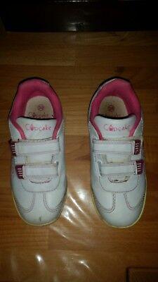 Mädchen Cupcake Couture Schuhe Gr.30 mit Klettverschluss weiß - Couture-schuhe