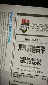 BBL 2xTickets this Friday night! Brisbane Gabba Middle Ridge Toowoomba City Preview