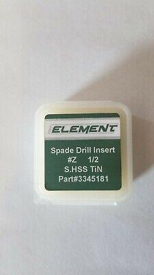 Spade Drill Insert 12 132 Series Z Tin Finish M42 Cobalt