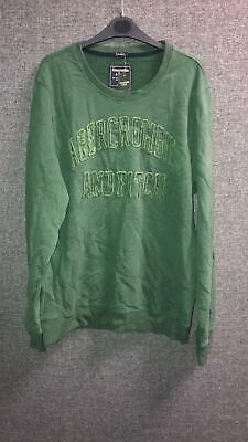 Abercrombie & Fitch Applique Logo Crew Sweatshirt Muscle Fit XXL TD100 TT...
