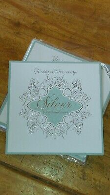 INVITATIONS 25TH 25 SILVER WEDDING ANNIVERSARY PARTY 6 PK. ( HSS126B ) (25th Wedding Anniversary Invitations)