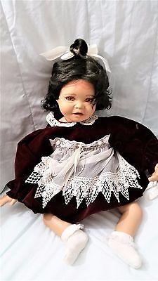 "Designer Guild Porcelain girl doll 21"" Angelina Jo Anna"