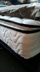 Nearly New Queen Pillow Top Mattress (Pocket Springs)