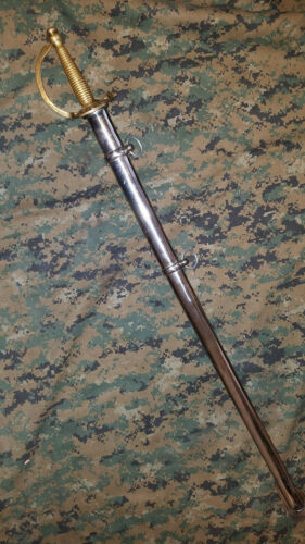 1840 CSA NCO Non-Commisioned Officer long Sword w/ Steel Scabbard Confederate 37