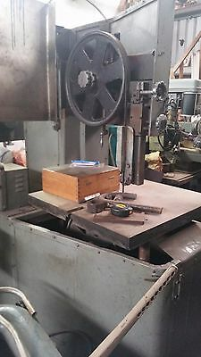 Vertical Band Saw Metal Cutting With Welder.