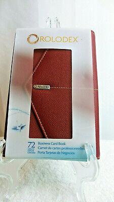 Rolodex 72 Business Card Holder Book Medium Portable W Notepad Pen Holder