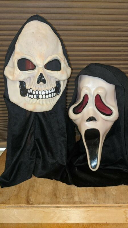 Halloween Masks Scream 2 Demon Easter Unlimited Fun World Glow lot 9206 9205