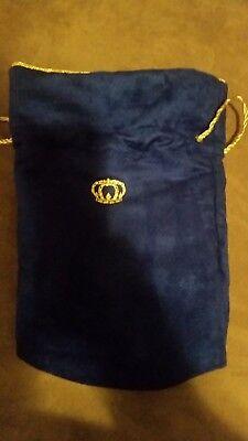 New Crown Royal Whiskey XR Extra Rare Blue Felt Bag