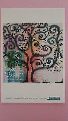 """Postcard """"Tree"""" Japanese Artist Noritake Kinashi Free Shipping from Japan"""