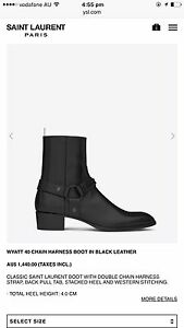 Saint Laurent ( BOOT IN BLACK LEATHER ) size 42 Melbourne CBD Melbourne City Preview