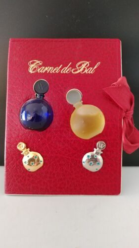 Vintage Perfume Bottle Mini Presentation Worth Carnet de Bal RARE