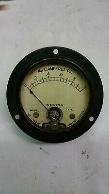 Vintage Model 506 Weston 0 To 1 Milliamperes D.c. Meter Used