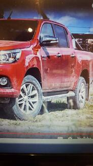 TOYOTA HILUX  2015 TO 2018 SIDE STEPS