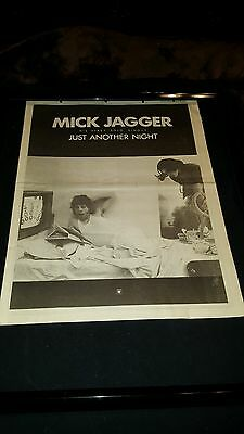 Mick Jagger Just Another Night Rare Original U.K.  Promo Poster Ad Framed!