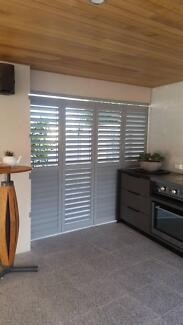 PVC Plantation Window Door Timber Shutters Internal Living Bedroo