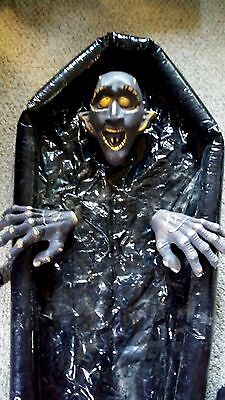 Vampire Dracula Monster With Black Coffin Lights Up Halloween Decoration