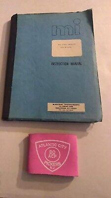 Marconi Instruments F.m. Signal Generator Type Tf 1066a Instruction Manual