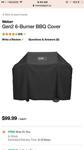 Like new weber BBQ grill cover fit any 5-6 burner BBQ