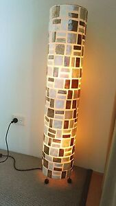 Great Floor lamp with Mosaic creme and bronze shell style pattern Golden Beach Caloundra Area Preview