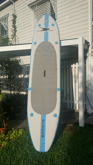 Two Inflatable stand up paddle board with paddles