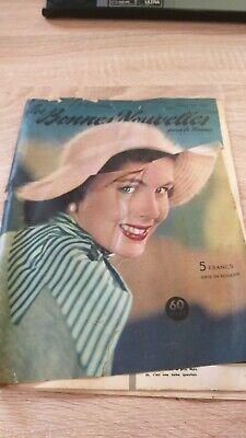RARE Revue Vintage LES BONNES NOUVELLES N°16/1956 LILY HARPEL