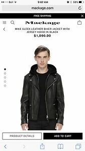 Mackage Men's biker leather jacket