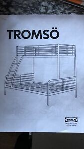 Ikea Tromso- Twin over double bunk bed