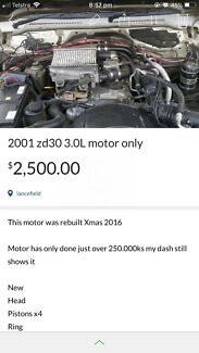 Gu patrol Zd30 motor $2000 need gone ASAP  Romsey Macedon Ranges Preview