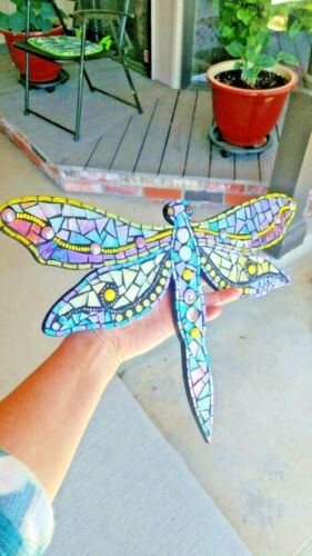 dragonfly mosaic wall hanging insect favorite flying bug dragon fly