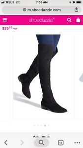Black over the knee boots brand new in box