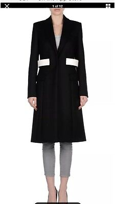 Givenchy Belted Wool Coat Bnwt Size 36 Rrp. £2,495 Rare To Buy