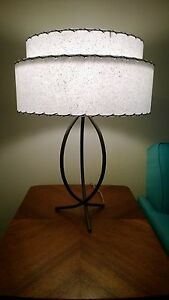 Retro lamp shade ebay diy kit mid century vintage style 2 tier fiberglass lamp shade diy kit retro aloadofball