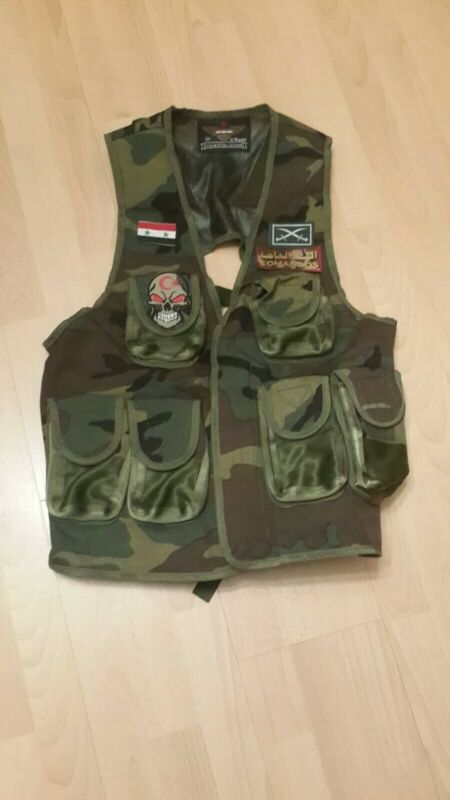 Syrian   Army  specs  camouflage  assault vest ammo vest  utility pouch
