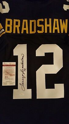 617813d4c12 TERRY BRADSHAW AUTOGRAPH SIGNED BLACK PITTSBURGH STEELERS JERSEY INCLUDES  JSA