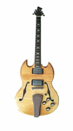 Custom Electric Guitar with semi-hollow body