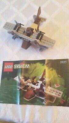 LEGO Adventurers Jungle: Pontoon Plane (5925) Instruction Book & Figure NO BOX