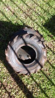 2x Small tractor tread tyres  Wodonga Wodonga Area Preview