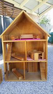 Wooden Dolls House and Furniture Belmont Geelong City Preview