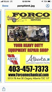 Heavy Duty Equipment Mechanicals Repairs