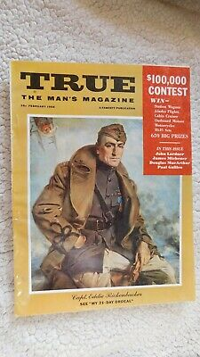 Vintage TRUE The Man's Magazine February 1958 ADVERTISING 128 PAGES